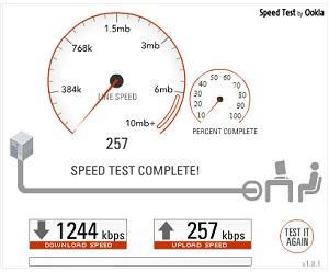 בדיקת מהירות העלאה
