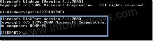 Format usb diskpart