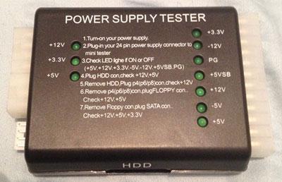 כלי לבדיקת ספק כח Power Supply Tester