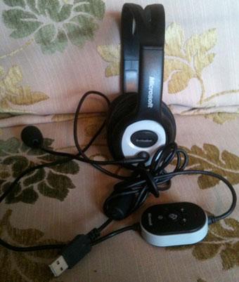 אוזניות עם מיקרופון למחשב