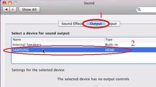 הגדרת קול בחיבור HDMI