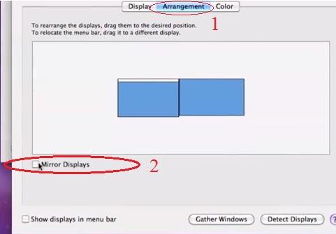 מסכים זהים במערכת OS X