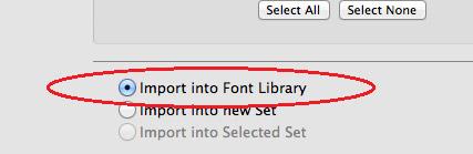 ייבוא לתיקיית fonts