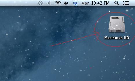 כונן המערכת במערכת Mac