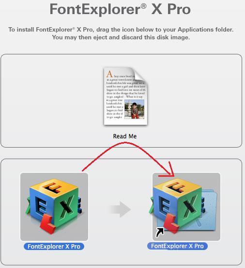 העתקת תוכנת FontExplorer