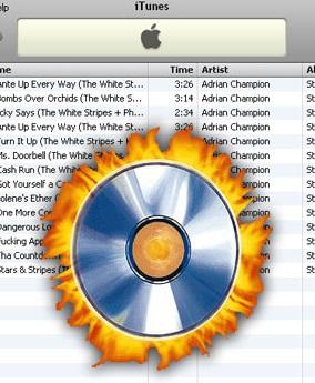 איך לצרוב שירים מ- iTunes לדיסק?