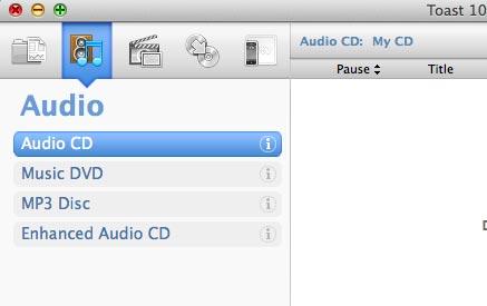 צריבה בפורמט דיסק רגיל
