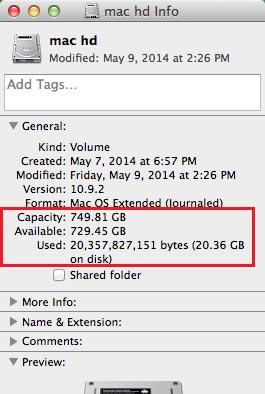 כמה מקום בדיסק?