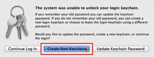 create new keychain
