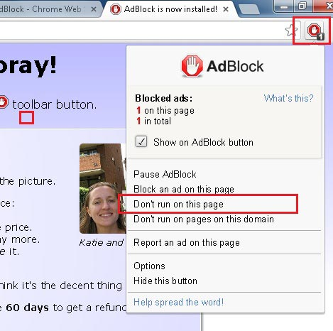 תוסף חוסם חלונות קופצים adblock