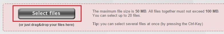 בחירת קובץ PDF