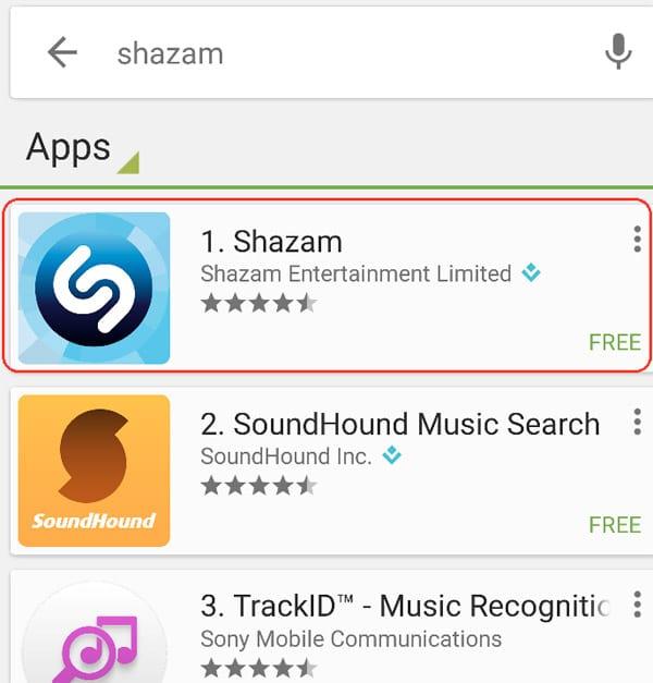 הורדת shazam סלולר