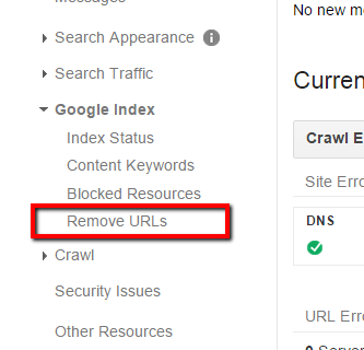 remove url index