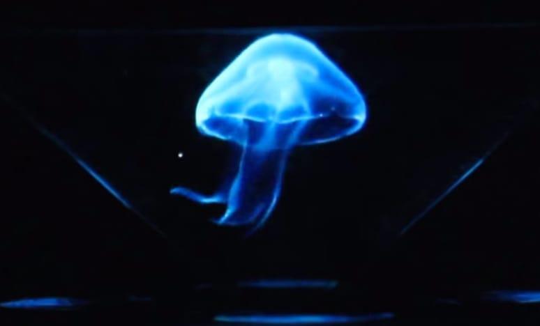 סרטון hologram jellyfish