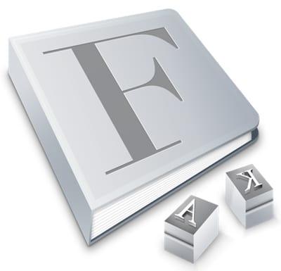 פונט בוק אפל font book mac