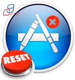 איפוס הגדרות app store אפל