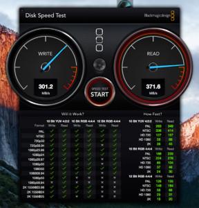 בדיקת מהירות SSD חיצוני
