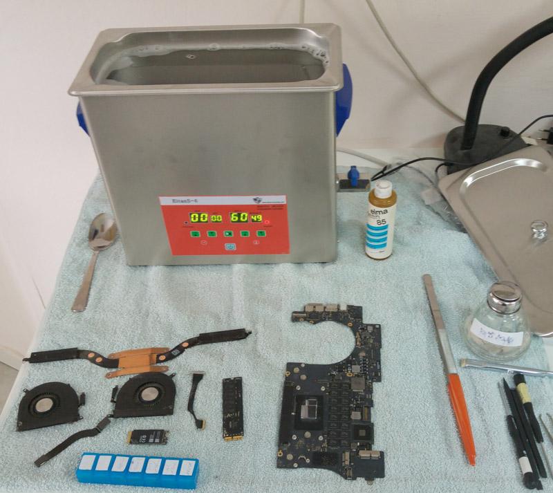 רכיבים+ מכשיר ultrasonic