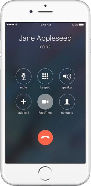 שיחת פייסטיים מהאייפון