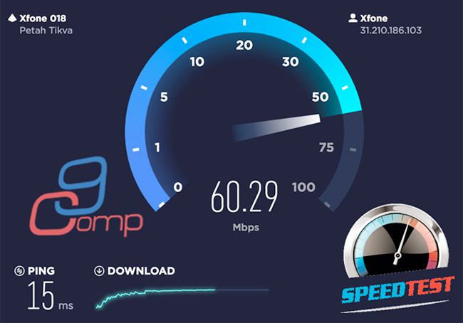 בדיקת מהירות אינטרנט